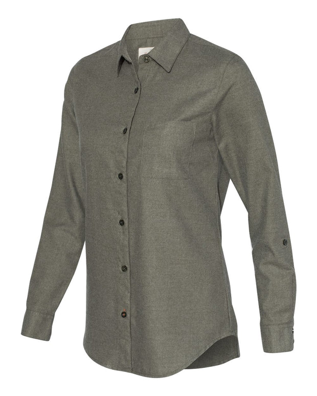 Weatherproof - Women's Vintage Brushed Flannel Solid Shirt - Addict Apparel