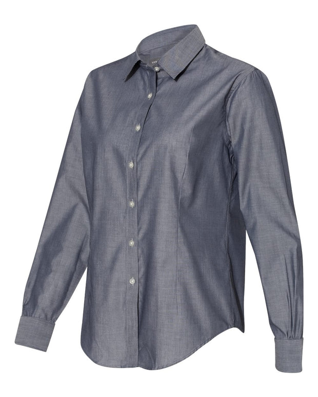 Van Heusen - Women's Chambray Spread Collar Shirt - Addict Apparel