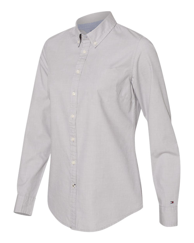 Tommy Hilfiger - Women's Capote End-on-End Chambray Shirt - Addict Apparel