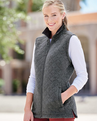J. America - Women's Quilted Full-Zip Vest* - Addict Apparel