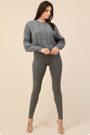 Crop Long Sleeve Casual Sweater* - Addict Apparel