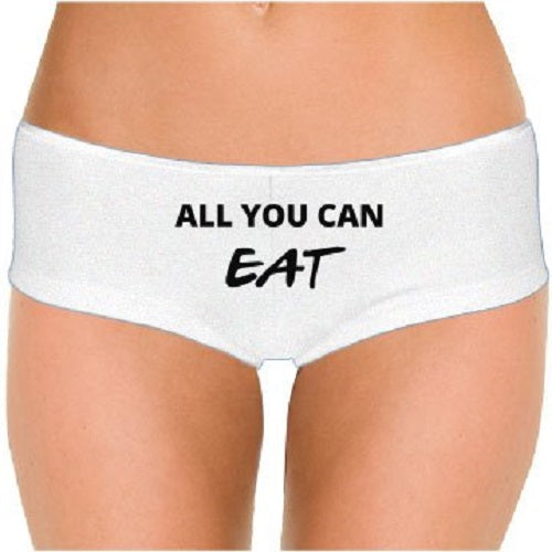 All You Can Eat (Design 1) Low Rise Cheeky Boyshorts