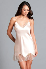 Be Wicked Satin & Chantilly Lace Slip* - Addict Apparel
