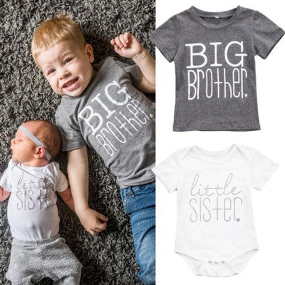 Big Brother and Little Sister Sibling Shirt Set* - Addict Apparel