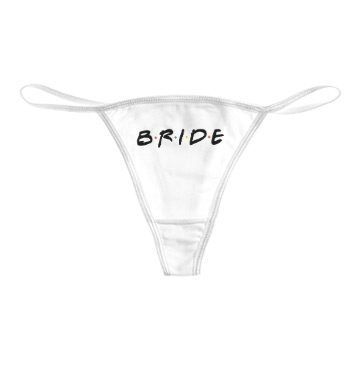 Bride (Friends Font) Thong Bikini* - Addict Apparel
