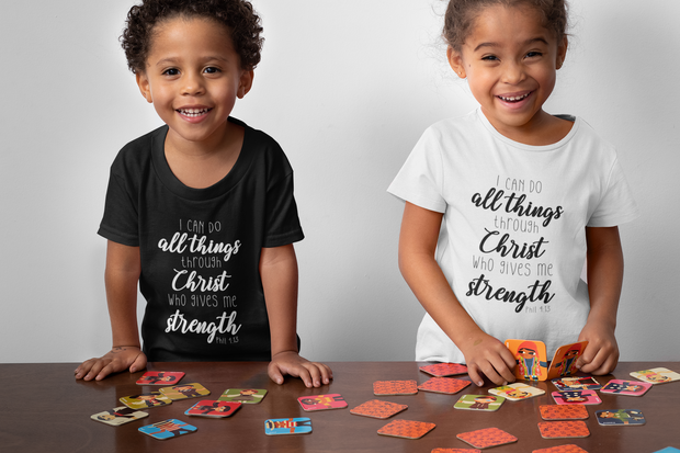 I Can Do All Things Through Christ Phil 4:13  Onesie / Infant Tee / Toddler Tee / Kids T-Shirt - Addict Apparel
