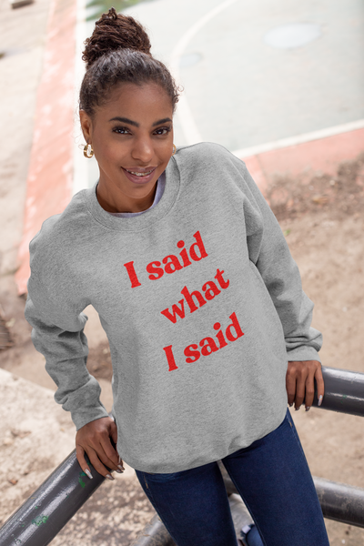 I Said What I Said Sweatshirt / Hoodie