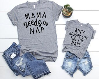 Mama Needs A Nap + Ain't Nobody Got Time For Naps T-Shirt Set - Addict Apparel
