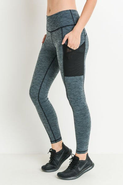 Marle Grey Mesh Pocket Full Leggings* - Addict Apparel