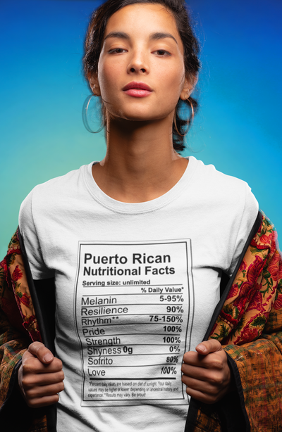 Puerto Rican Nutritional Facts T-Shirt - Addict Apparel
