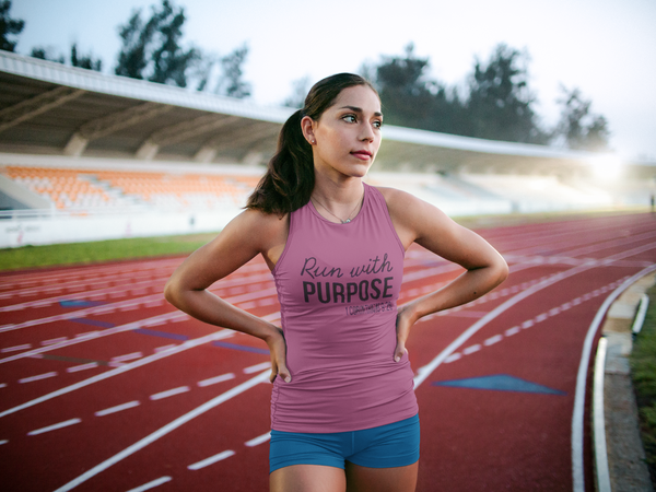 Run With Purpose (1 Cor. 9:26) Tank Top