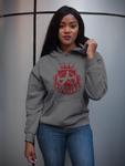 Addict Apparel Logo Sweatshirt / Hoodie - Charcoal w/Burgundy