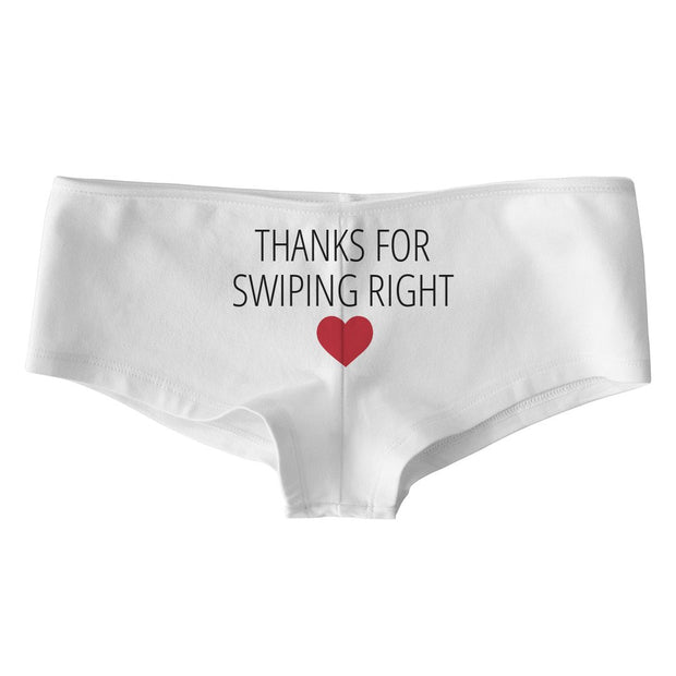 Thanks For Swiping Right Low Rise Cheeky Boyshorts - Addict Apparel