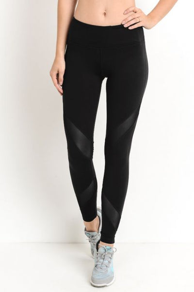 Criss-Cross Mesh Full Leggings* - Addict Apparel