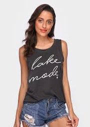 Lake Mode Muscle Tank Top - Addict Apparel