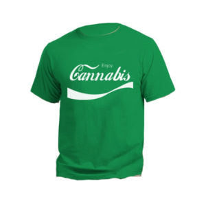 Enjoy Cannabis Coca Cola Font T-Shirt