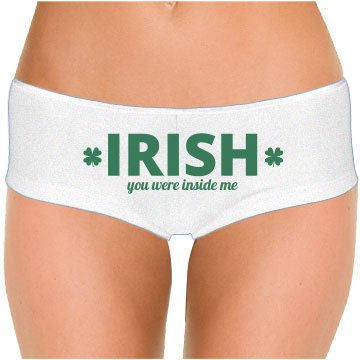Irish You Were Inside Me Low Rise Cheeky Boyshorts