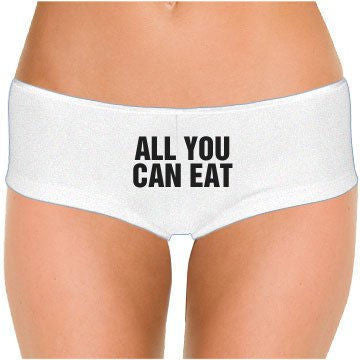 All You Can Eat (Design 2) Low Rise Cheeky Boyshorts* - Addict Apparel