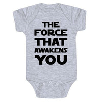 The Force That Awakes You Baby Onesie