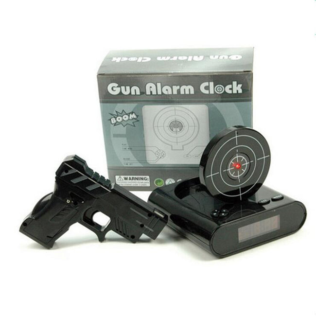 Laser Shooting Gun Alarm Clock - Made In America