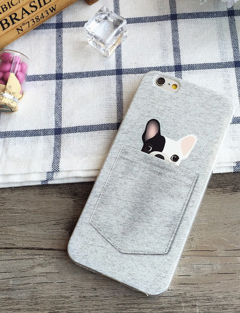 HOT SALE Cute French Bulldog Soft Phone Case For iPhone 6Plus 6 6S 5 5S SE 5C 4 4S Samsung Galaxy