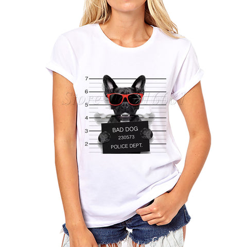 2017 French Bulldog Design Womens T-Shirt
