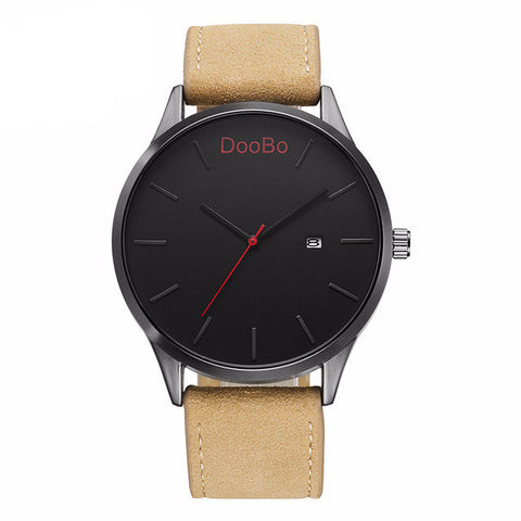 Casual Mens Leather Quartz Watch