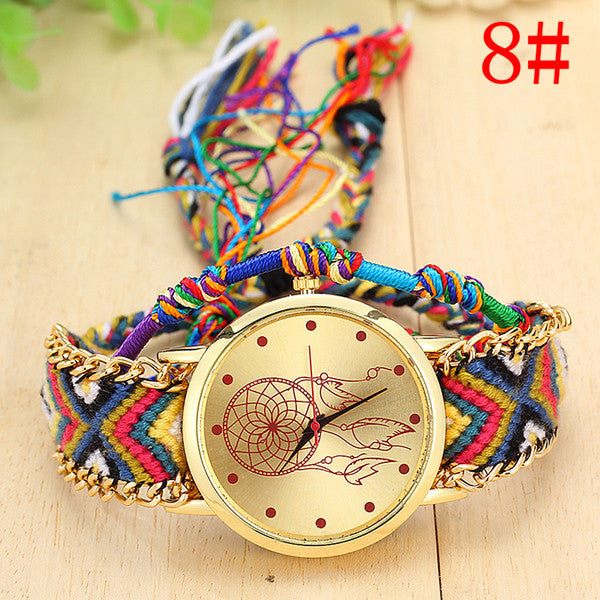 Native Handmade Quartz Dreamcatcher Watch