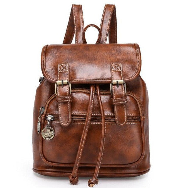 Premium Pu Leather Backpack