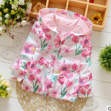 Three Flowers  and Lollipops Baby Jacket