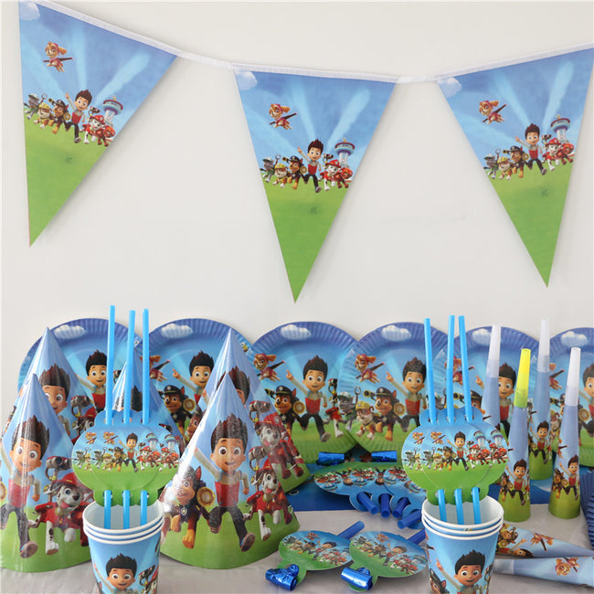 Dog and friends theme printed Party decoration Set