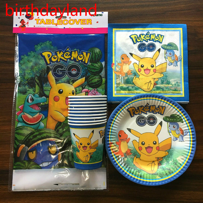 Pokemon Go Kids Party Tableware Setting