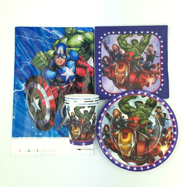 Avenger theme Disposable Tableware Party setting for 20