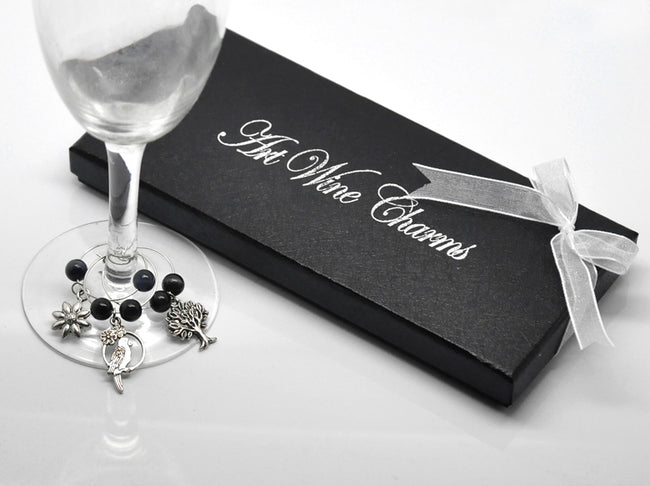 1 Box Mixed Nature Wine Glass Charms  and Tabletop Decorations Pendant for Party Events