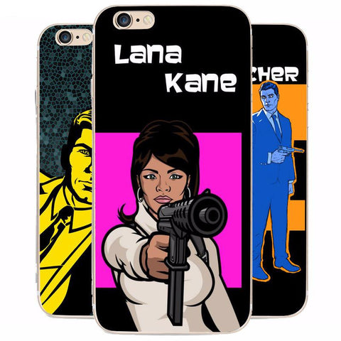 Archer HQ Print iPhone Cases