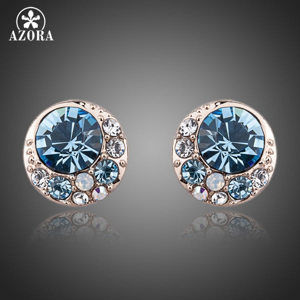 BlueEyes Austrian Crystal Stud Earrings