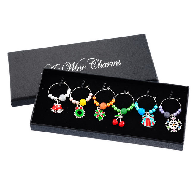 1 Box Mixed Snowflake Wine Charms and Tabletop Decorations for Your Party Supplies