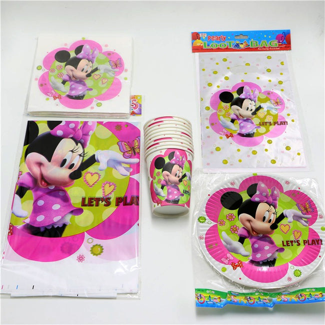 Minnie Mouse Disposable Tableware Birthday Party Set for 20