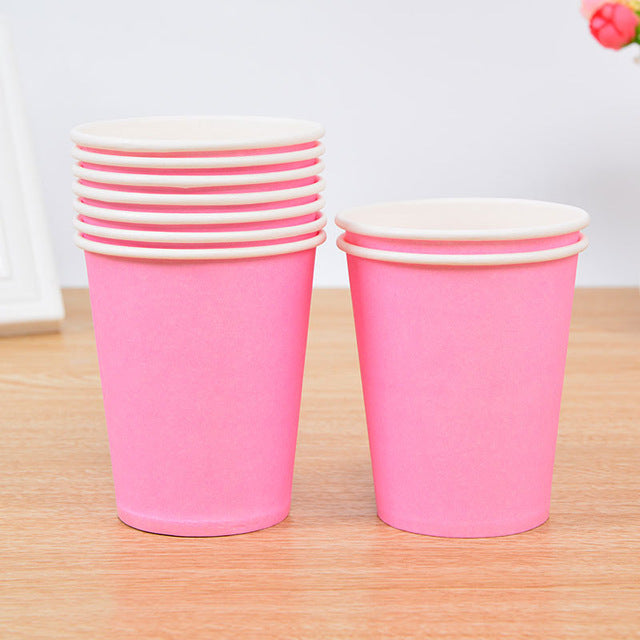 10 pcs/set Solid Colour Paper Cups for Your Party Supplies