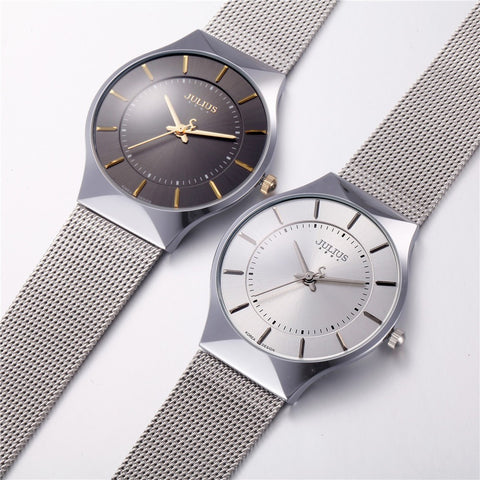 Ultra Thin Stainless Steel Watches - Shock Resistant & Waterproof