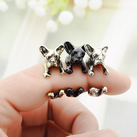 HOT SALE French Bulldog Adjustable Ring