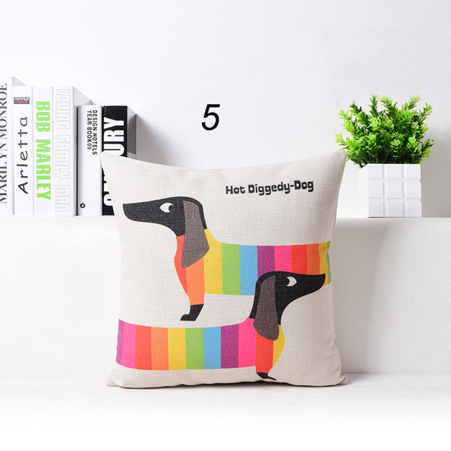 Rainbow Sausage Dogs Cushion Covers