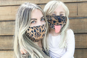 Cheetah Mommy & Me Face Masks