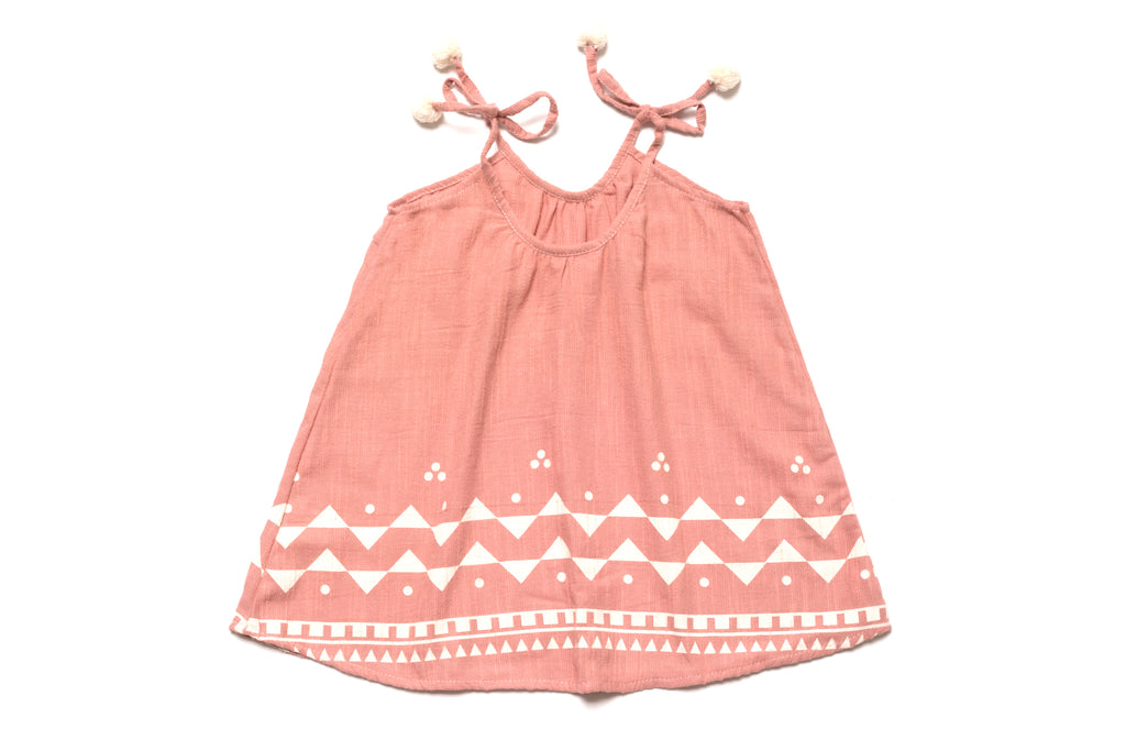 Baby & Toddler Girls Fancy Designer Pom Pom Dresses | Born By The Shore