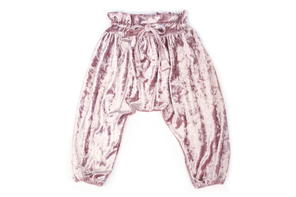 Soft Velvet Harem Pants Ballett Blush