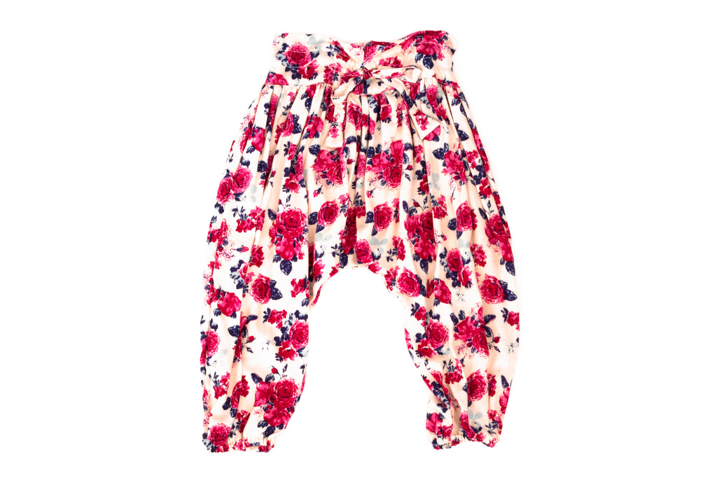 Harem Pants for Baby & Toddler Girls | Pink Roses