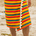Pom Pom Beach Towel Rainbow