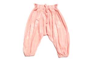 Baby Girls Soft Pink Embroidered Designer Harem Pants | Born By The Shore