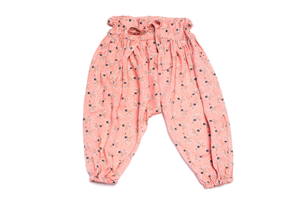 Baby Girls Handmade Adjustable Cute Floral Harem Pants | Born By the Shore