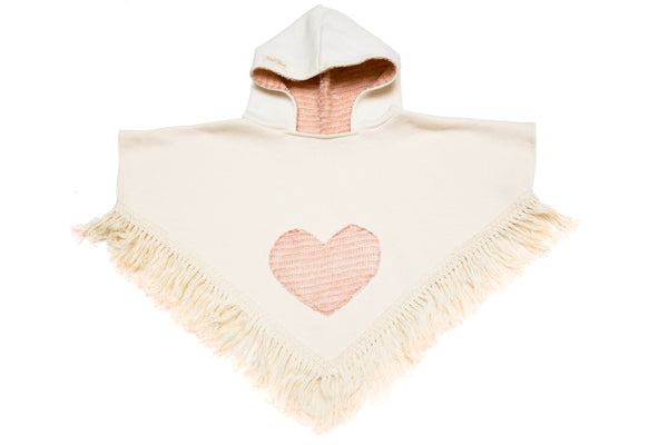 Rose Gold Heart Pocket Poncho